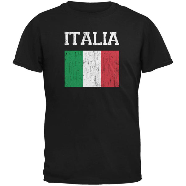 World Cup Distressed Flag Italia Black Youth T-Shirt