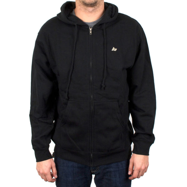 Macbeth - Micro Pennant Black Fleece Zip Hoodie