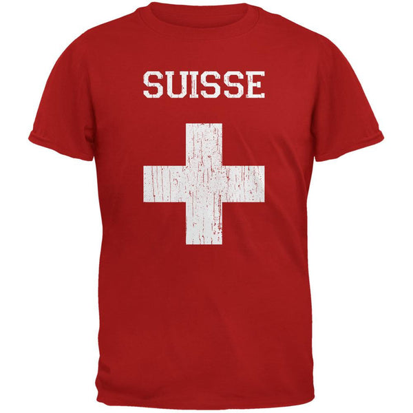 World Cup Distressed Flag Suisse Red Youth T-Shirt