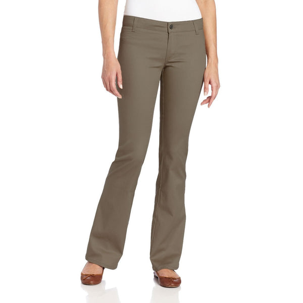 Dickies Girl - 882 The Worker Mid Rise Boot Cut Silver Pant