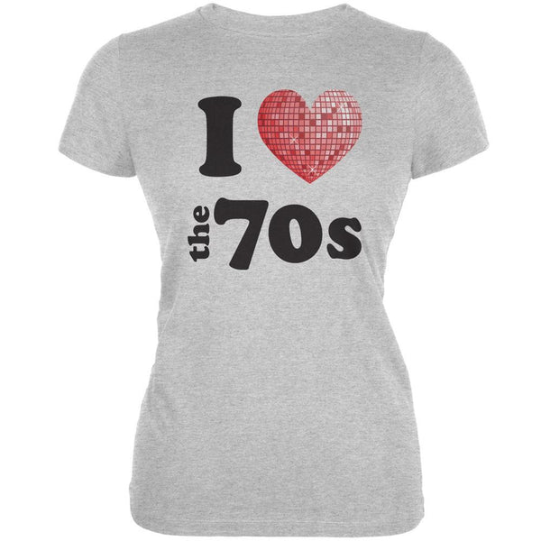I Heart The 70s Heather Grey Juniors Soft T-Shirt