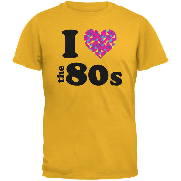 I Heart The 80s Gold Adult T-Shirt