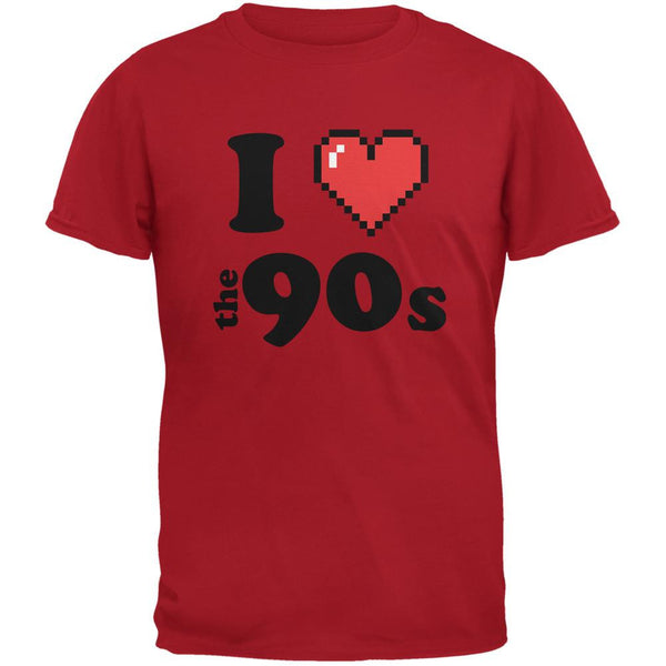 I Heart The 90s Red Adult T-Shirt