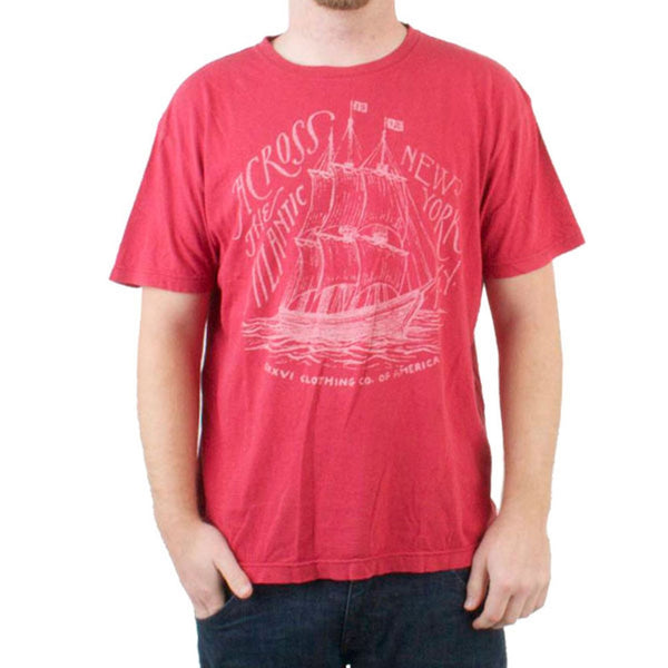 CXXVI Clothing - Ship Antique Red T-Shirt
