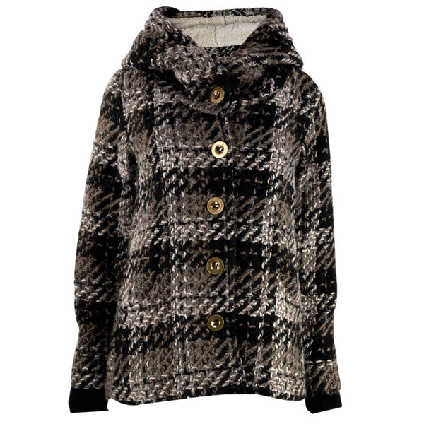Element - Brown Faux-Wool Button-Up Juniors Jacket