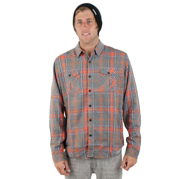 Billabong - Gomez Grey Long Sleeve Button-Up T-Shirt