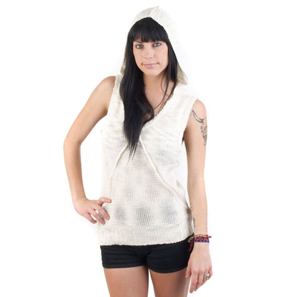 Element - Beacon Natural Juniors Sleeveless Sweater