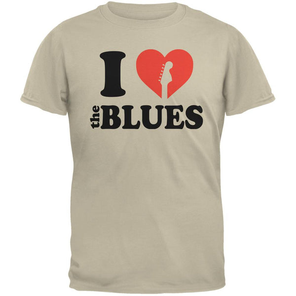 I Heart The Blues Sand Adult T-Shirt