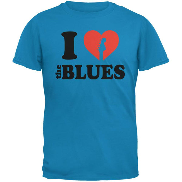I Heart The Blues Sapphire Blue Adult T-Shirt