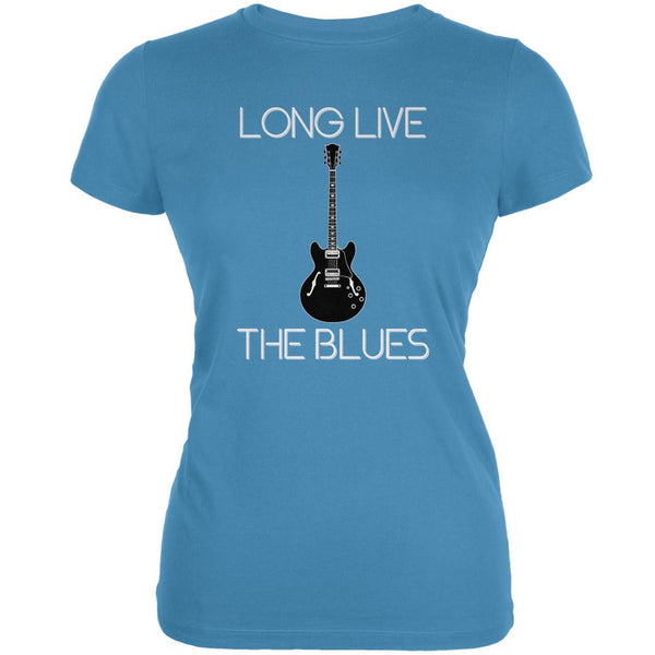 Long Live The Blues Aqua Juniors Soft T-Shirt