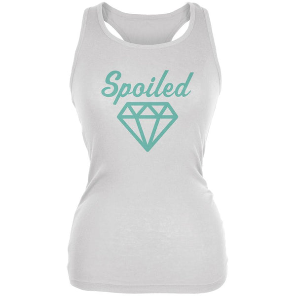 Spoiled White Juniors Soft Tank Top