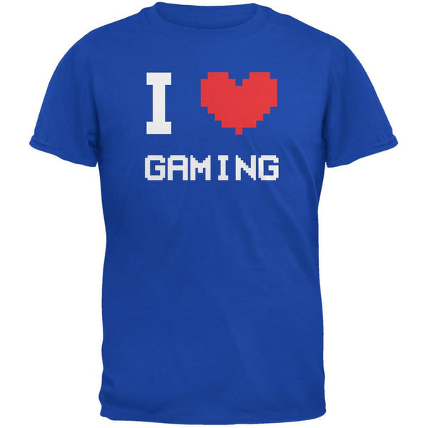 I Heart Gaming 8 Bit Royal Adult T-Shirt
