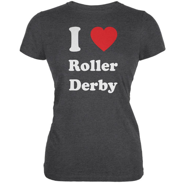 I Heart Roller Derby Dark Heather Juniors Soft T-Shirt