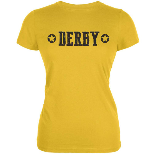 Roller Derby Derby Stars Bright Yellow Juniors Soft T-Shirt