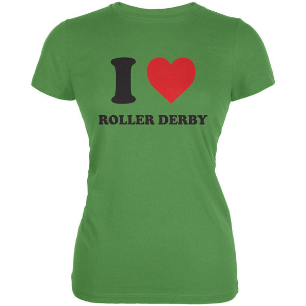 I Heart Roller Derby Leaf Juniors Soft T-Shirt