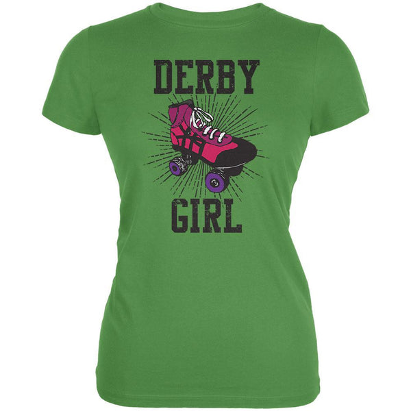 Roller Derby Derby Girl Leaf Juniors Soft T-Shirt