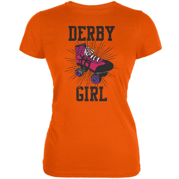 Roller Derby Derby Girl Orange Juniors Soft T-Shirt