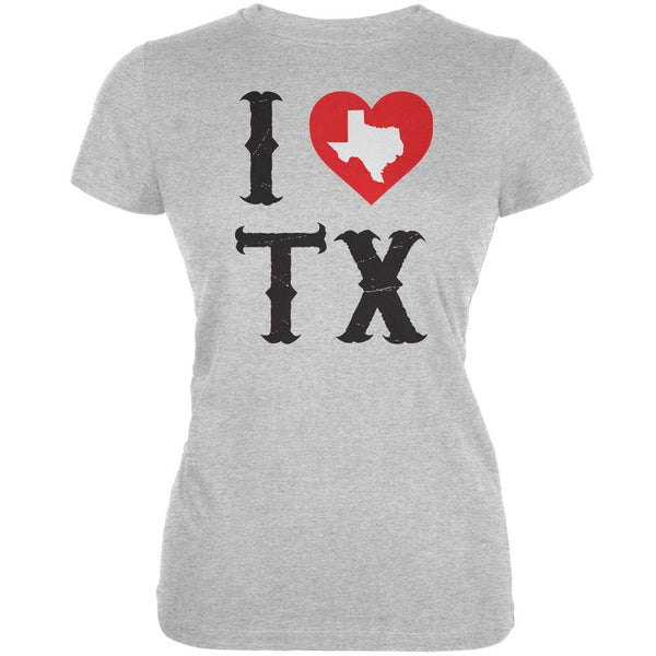 I Heart TX Heather Grey Juniors Soft T-Shirt