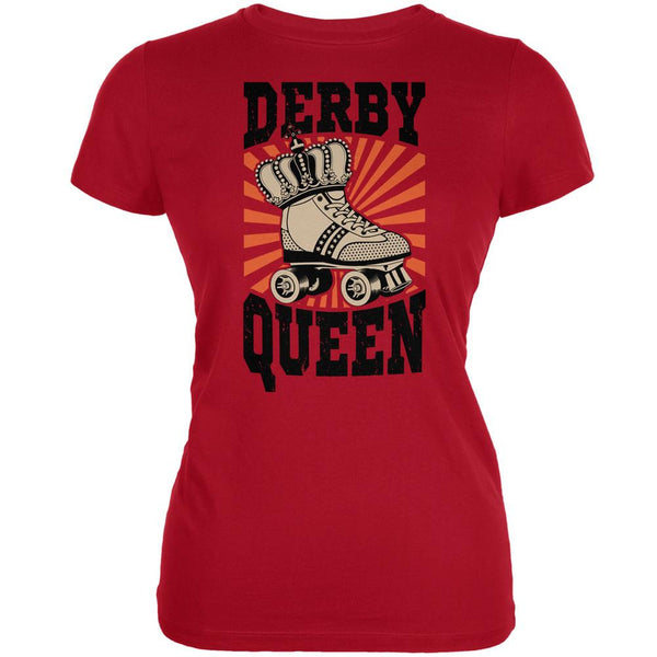 Roller Derby Derby Queen Red Juniors Soft T-Shirt