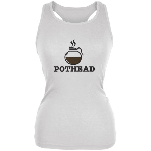 Pothead White Juniors Soft Tank Top