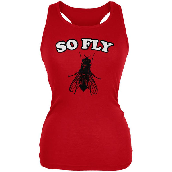 So Fly Red Juniors Soft Tank Top