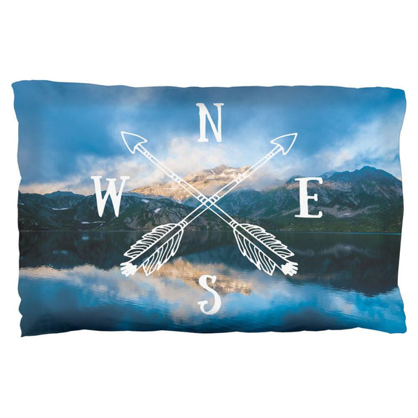 North South East West Arrows Pillow Case