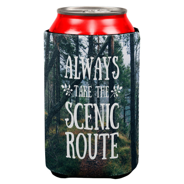 Hiking Always Take the Scenic Route All Over Can Cooler