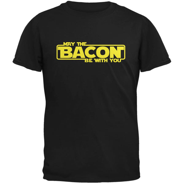 May The Bacon Be With You Black Youth T-Shirt