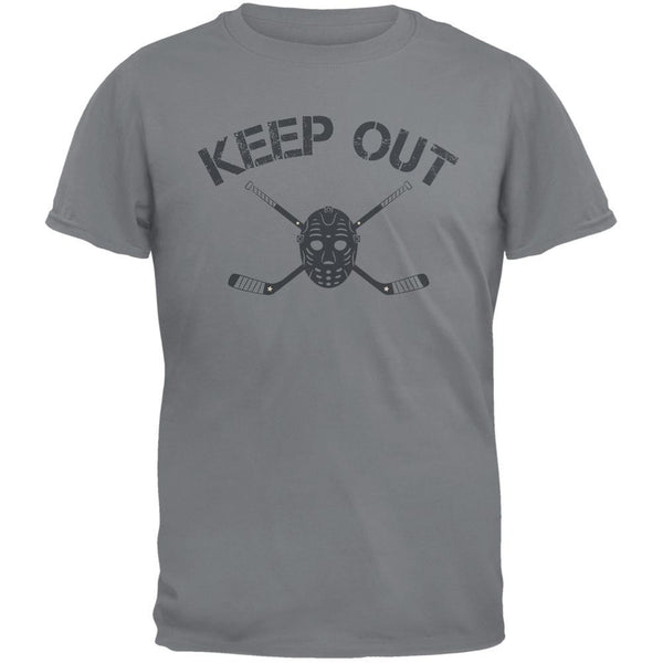 Hockey Goalie Keep Out Storm Grey Adult T-Shirt