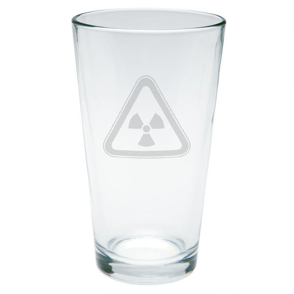 Hazmat Radioactive Etched Pint Glass