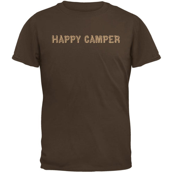 Happy Camper Brown Adult T-Shirt