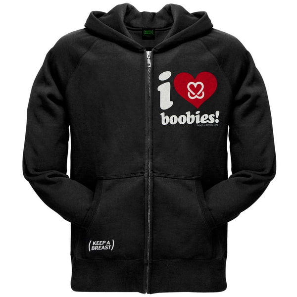 Keep A Breast - I Love Boobies Adult Zip Hoodie