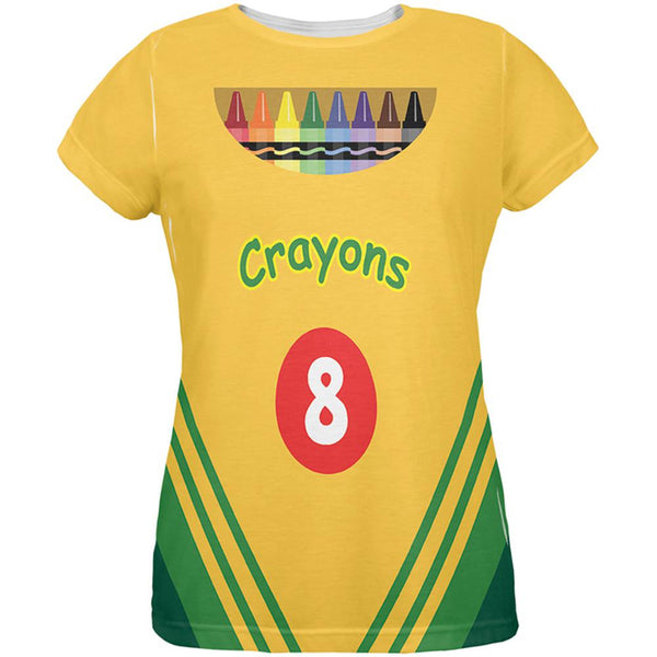 Halloween Crayon Box Costume All Over Ladies T-Shirt