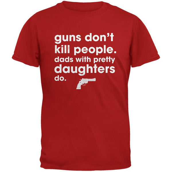 Father's Day Guns Don't Kill People Red Adult T-Shirt