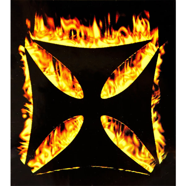 Flaming Iron Cross - Decal