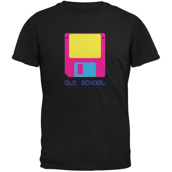 Floppy Disc Old School 8 Bit Black Youth T-Shirt