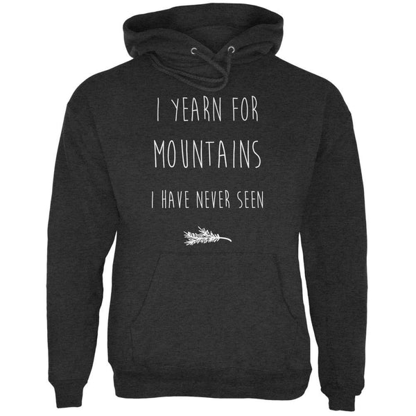 I Yearn for Mountains Charcoal Heather Adult Hoodie