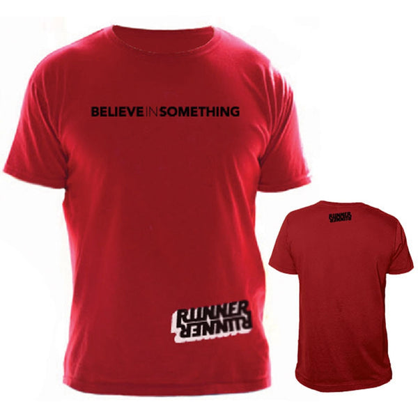 Runner Runner x Believe In Something - Collab Red T-Shirt