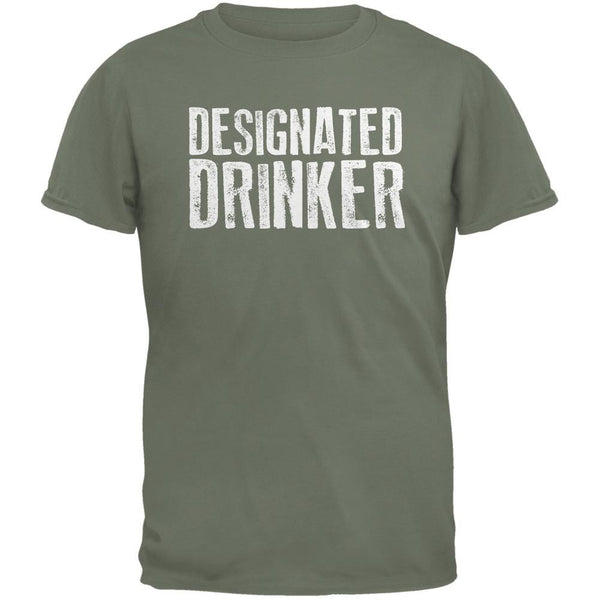 Designated Drinker Military Green Adult T-Shirt