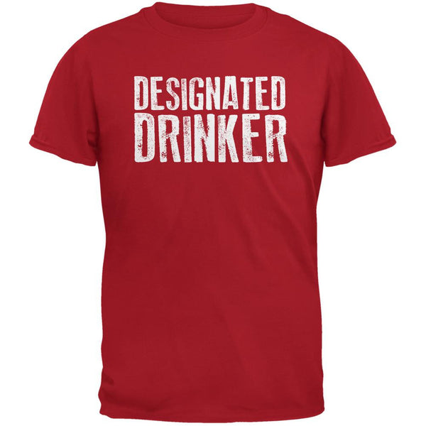 Designated Drinker Red Adult T-Shirt
