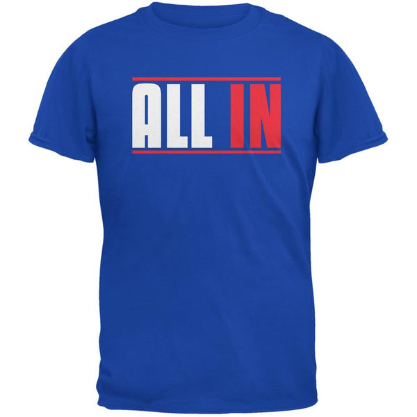 All In Royal Adult T-Shirt