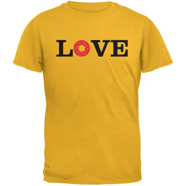 Photography Love Aperture Gold Adult T-Shirt