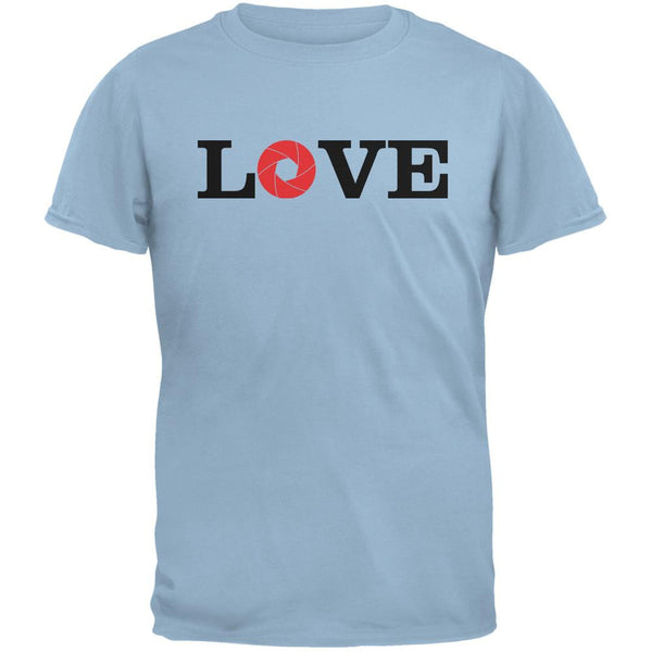 Photography Love Aperture Light Blue Adult T-Shirt