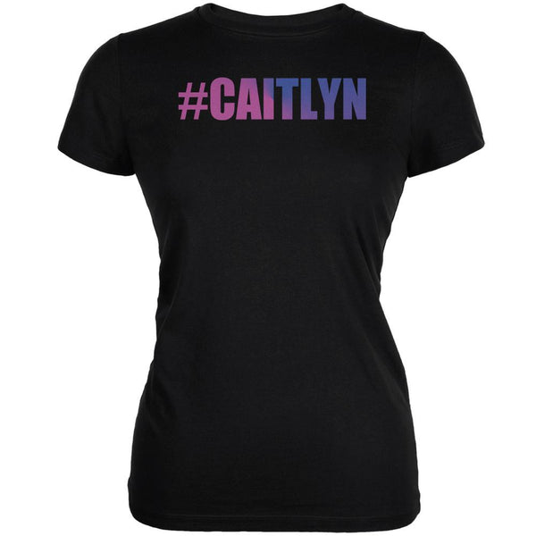 #Caitlyn LGBT Black Juniors Soft T-Shirt