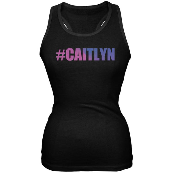 #Caitlyn LGBT Black Juniors Soft Tank Top