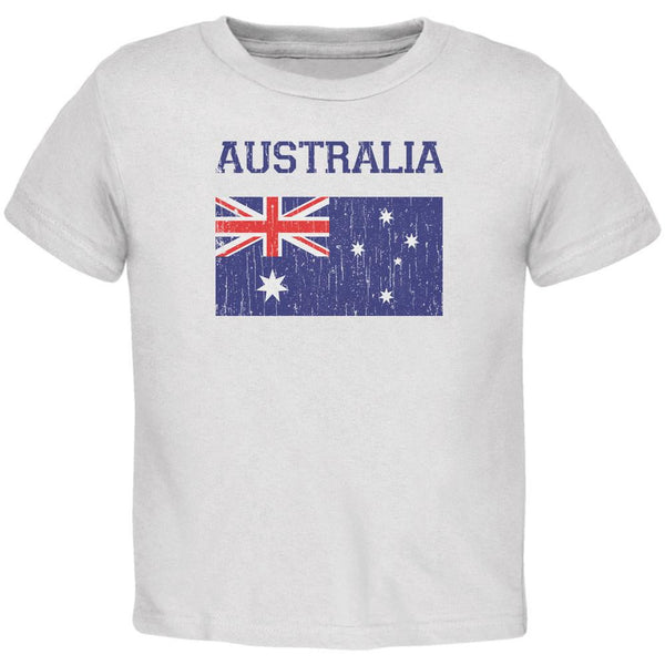 World Cup Distressed Flag Australia White Toddler T-Shirt