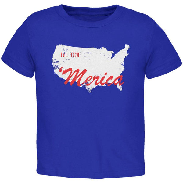 4th of July 'Merica Est 1776 Royal Toddler T-Shirt