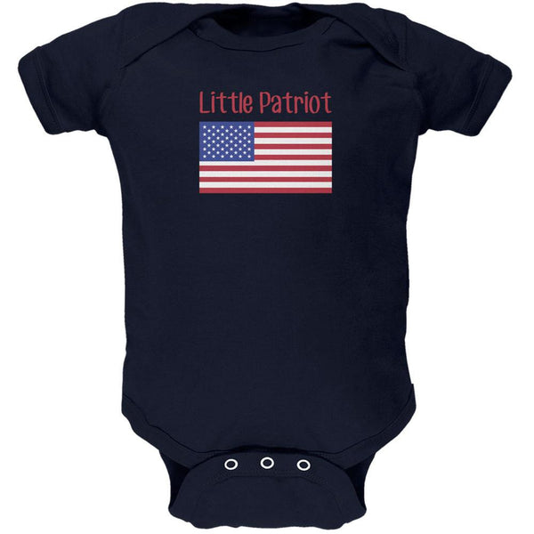 4th of July Little Patriot Navy Soft Baby One Piece