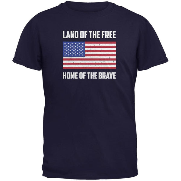 4th of July Land of the Free American Navy Youth T-Shirt