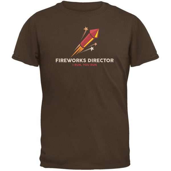 4th Of July Fireworks Director Brown Adult T-Shirt